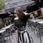 Jolie by D-Sai ชุดเซ็ทเสื้อแขน 3 ส่วน กระโปรงลายทางขาวดำ thumbnail 2