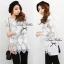 Lady Ribbon Lace Mini Dress มินิเดรสลูกไม้แขนยาว แขนซีทรู thumbnail 7