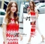 Lady Ribbon Tribal Embroidered Silk Chiffon Midi Dress thumbnail 5