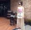 Lady Ribbon Mix Orchid Printed Chiffon Maxi Dress thumbnail 6