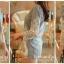 Ice Vanilla เสื้อยีนส์ตัวยาวแต่งลายฉลุ ชายระบายลูกไม้ thumbnail 5