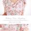 Icevanilla ชุดเดรสพิมพ์ลายดอกกุหลาบโทนชมพูโอลด์โรส พร้อมเข็มขัด thumbnail 10