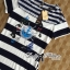 Lady Ribbon Maxi Dress เดรสลายขวางพิมพ์ลายสไตล์กะลาสีเรือ thumbnail 6