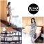 IceVanilla Striped Printed Dress เดรสผ้าพิมพ์ลายเส้นตารางขาวดำ thumbnail 2