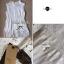 Lady Ribbon Lace Top เสื้อแขนกุดผ้าลูกไม้ สีขาว สีดำ thumbnail 14