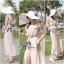 Lady Ribbon จั๊มสูทขายาว ผ้าคอตตอนซิลค์ หลังไขว้ สีชมพู สีเทา thumbnail 10