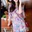 Molly Print Dress ชุดเดรสพิมพ์ลาย ผ้าชีฟองเกาหลี thumbnail 5