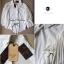 Lady Ribbon เสื้อเชิ้ตสไตล์สาวเกาหลีปกข้าง สีขาว-สีดำ thumbnail 9