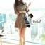 Seoul Secret เดรสเชิ้ตแขนสี่ส่วน แภมเข็มขัดหนัง thumbnail 3
