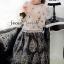 Seoul Secret เสื้อผ้าชีฟองผสมซิลค์ แต่งดอกไม้สีเงิน thumbnail 4