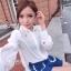 IceVanilla Pearl&Diamond Stitch Chiffon Shirt thumbnail 5