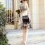 Seoul Secret Black Tone Embroidered Breast Luxury Dress thumbnail 3