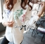 Lady Ribbon Mickey Mouse Embroidered Basic White Shirt Dress thumbnail 2