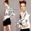 Lady Ribbon เสื้อเชิ้ตพิมพ์ลาย Chanel พร้อมผ้าพันคอ thumbnail 2