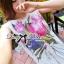 Lady Ribbon Mix Orchid Printed Chiffon Maxi Dress thumbnail 5