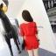 Cliona By N2 Playsuit with Belt จั้มสูทขาสั้น สีแดง สีดำ thumbnail 6