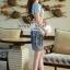 Seoul Secret ชุดเซ็ทเสื้อลายดอก กระโปรงโทนสีขาวดำ thumbnail 6
