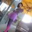 Lovely Purple Set ชุดเสื้อไหมพรม พร้อมกระโปรงสั้น ผ้ากำมะหยี่ สีม่วง thumbnail 6