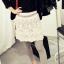 Cherry KOKO เลกกิ้งสีเทา กระโปรงตัดต่อผ้าตาข่ายปักไหมพรม thumbnail 2