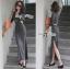 Lady Ribbon Sexy Jersey Cotton Maxi Dress thumbnail 3