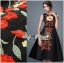 Lady Ribbon D&G Red Florals Embroidered Black Dress thumbnail 3