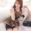 Seoul Secret เสื้อชีฟองลายเสือ แต่งระบายผ้าแก้ว thumbnail 4