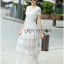 Lady Ribbon Maxi Dress เดรสยาวผ้าลูกไม้สีขาว thumbnail 3