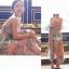 Lady Ribbon แม็กซี่เดรสชีฟองลายนกยูง สีพาสเทล thumbnail 6