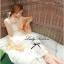 Lady Ribbon Sweet Lace Maxi Dress เดรสยาวผ้าลูกไม้สีครีม thumbnail 5