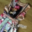 Lady Ribbon Orchid Printed Satin Long Dress with Daisy Belt thumbnail 8