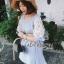 Lady Ribbon Lace-Sleeve Mini Dress with Ribbon thumbnail 1