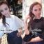 Lady Ribbon เสื้อเชิ้ตสไตล์สาวเกาหลีปกข้าง สีขาว-สีดำ thumbnail 4