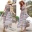 Lady Ribbon Floral Maxi Dress แมกซี่ชีฟองพิมพ์ลายลูกไม้ thumbnail 8