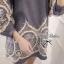 Lady Ribbon มินิเดรสยีนส์ ปักฉลุรังผึ้งช่วงแขนและชายเสื้อ thumbnail 8