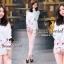 Seoul Secret ชุดเซ็ทเสื้อพิมพ์ลายสีพาสเทล กางเกงสีชมพู thumbnail 3
