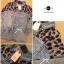 Lady Ribbon เสื้อเชิ้ตผ้ายีนส์ ไหล่ผ้าชีฟองลายเสือ สีเทา สีน้ำตาล thumbnail 13
