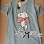 Lady Ribbon Snoopy Sequin Embroidered Denim Mini Dress thumbnail 8