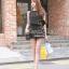 Seoul Secret จั๊มสูทผ้าชีฟองขาสั้น สีดำ แต่งเลื่อมที่แขน thumbnail 3