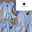 Lady Ribbon เสื้อจับจีบช่วงเอว ชายระบาย สีฟ้า/ชมพู thumbnail 11
