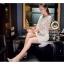 Icevanilla Luxury See-through White Lace Dress thumbnail 8