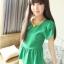 เสื้อ ผ้าชีฟองสีเขียว ด้านหลังตัดต่อผ้าตาข่ายเก๋ๆ thumbnail 5