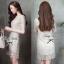 Lady Ribbon Glitter Lace Dress เดรสแขนสั้นผ้าลูกไม้ผสมกลิตเตอร์ thumbnail 5