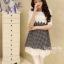 IceVanilla Dress เดรสลาย Shinori แต่งผ้าลูกไม้ thumbnail 1