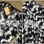 Lady Ribbon Black and White Daisy Wrap Maxi Dress thumbnail 10