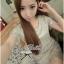 Lady Ribbon Luxury Glitter Lace Dress เดรสผ้าลูกไม้ผสมกลิตเตอร์วิ๊งๆ thumbnail 5