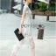 Lady Ribbon Maxi Dress เดรสยาวผ้าลูกไม้สีขาว thumbnail 5