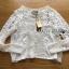 Lady Ribbon Sweet Mix Fabrics Lace Blouse thumbnail 5