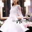 Lady Ribbon Classic White Lace Pleated Dress thumbnail 1