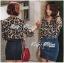 Lady Ribbon Leopard Print Shirt เชิ้ตพิมพ์ลายเสือ thumbnail 5