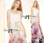 Lady Ribbon Colourful Floral Printed Long Dress thumbnail 2